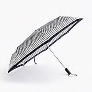 J. CREW Navy and Ivory Pocket Umbrella